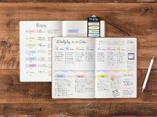 手書き・水彩タッチがノートを彩る