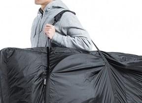 初心者でも簡単に収納可能な自転車輪行バッグ