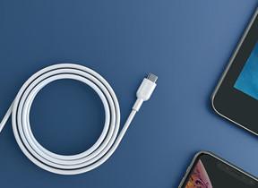 「iPhone」を30分で最大50%充電 USB-C&Lightningケーブル