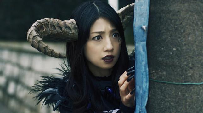 怪人ママ役で出演した、タレントの小倉優子さん