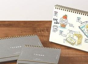 卓上カレンダーのように飾れるノート