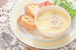 「豚と生姜のコーンスープ」