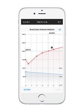 The Roast Expert対応の専用アプリ画面