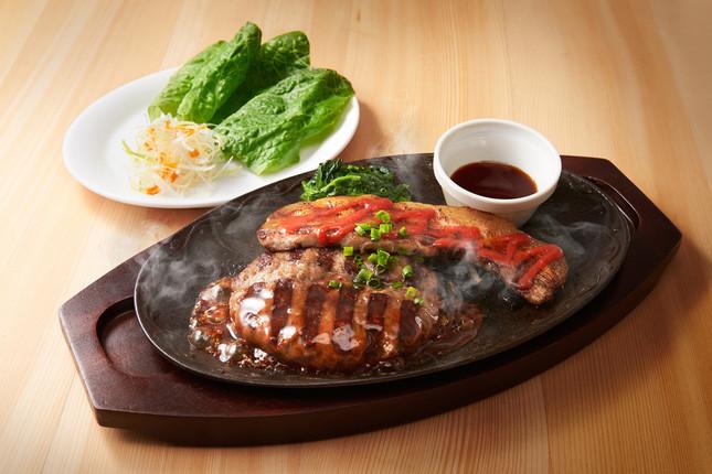 All Beef ハンバーグ&サムギョプサル ステーキ~イベリコ豚使用(2)