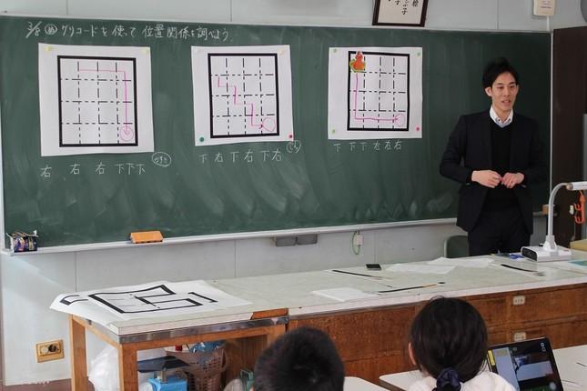 墨田区立業平小学校での授業の様子