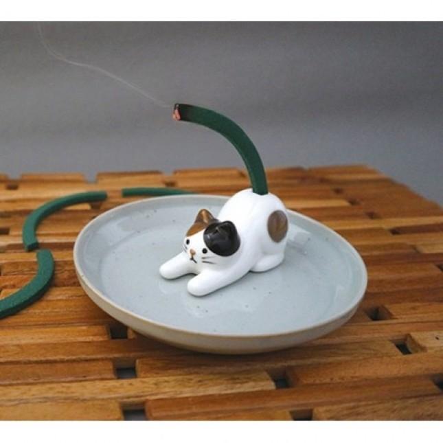 ちびちび蚊取線香スタンド(三毛猫)