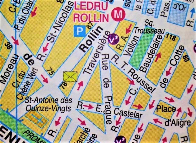 狐野さん紹介の店はバスチーユ広場の近く、Rue de Prague(プラハ通り)にある