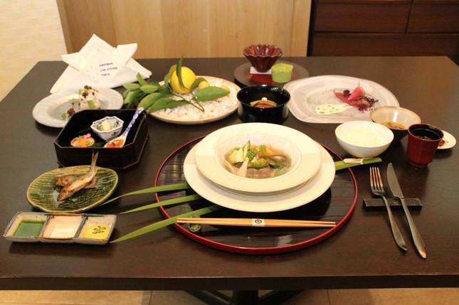 高知県産の食材を使ったコース料理