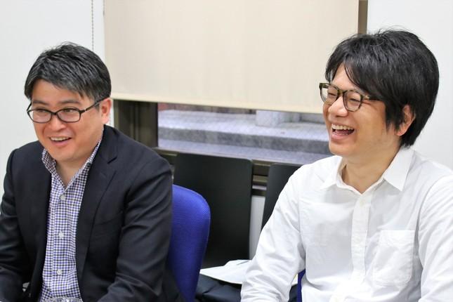 (左から)日本スポーツ振興センター・横田剛一さん、アートディレクター・映像作家の奥下和彦氏