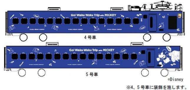 883系ソニックがミッキーマウスデザインに!