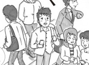 芸人の鉄拳がイラスト 道徳教科書のストーリー