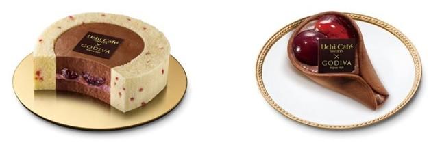 (左)ロールケーキ(右)ワッフル