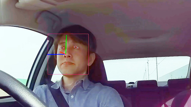 内向きカメラ(ドライバーモニタリング)