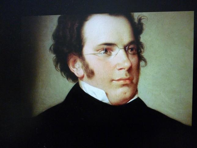 シューベルトの肖像。悲しい歌をたくさん残したが、穏やかな表情だ