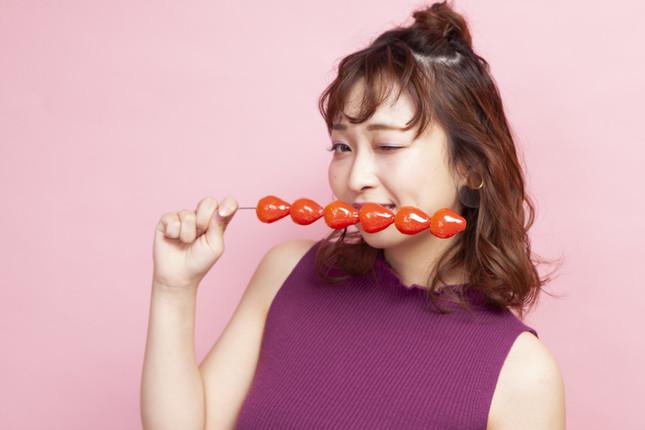 イチゴは大粒であめはパリパリ