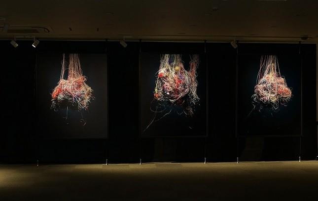 Bae SangSunさんの助成事業、展覧会「月虹 Moon-bow」。2019年1月14日~27日、JARFO京都画廊で開かれた