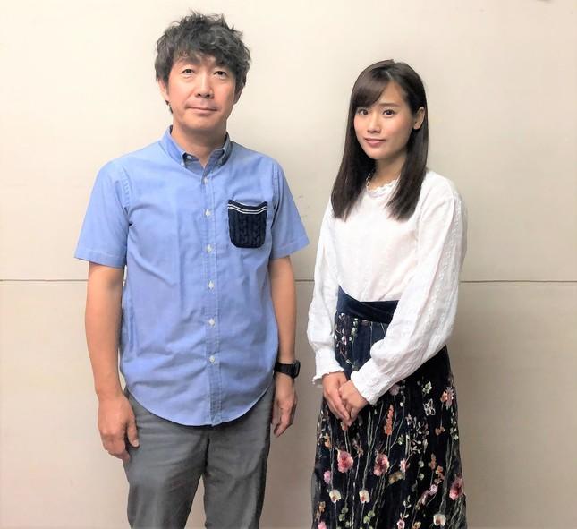 左から演出の西秋さん、ヒロイン役の秋山さん