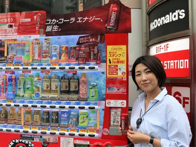 コカ・コーラエナジーのオススメの飲み方を教えてくれたコカ・コーラ広報の戸塚さん