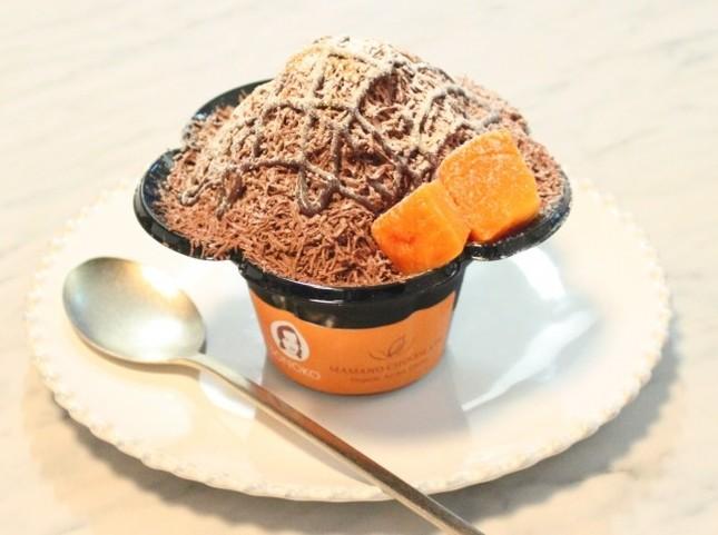 希少カカオを使用した濃厚チョコレートかき氷