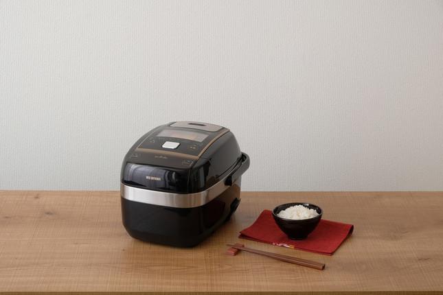 銘柄米を水量の失敗なく・おいしく炊ける