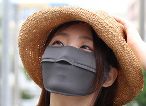 マスクなのに鼻がオープン 花粉対策ではありません!日焼け防止専用に