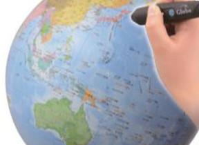 専用タブレットと連動 情報と音で日本や世界が学べる地球儀