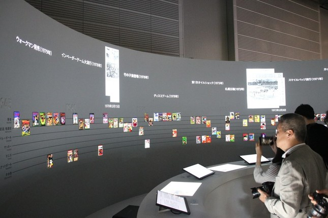スポーツマンガと日本社会の歴史を振り返る展示