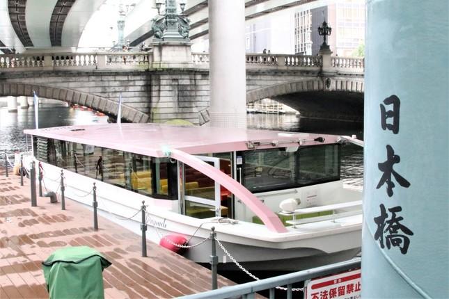 船通勤のスタートとなった日本橋の船着き場