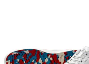 ガンダムの世界観がムーンスターの靴に 本革製ローバスケットスニーカー