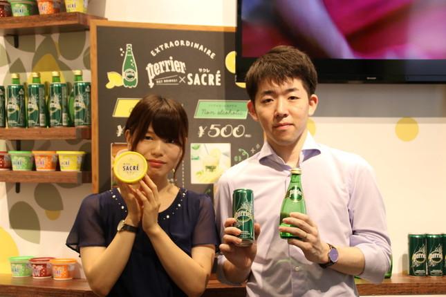 (左から)フタバ食品・担当者の三上さんとネスレ日本・宮内さん