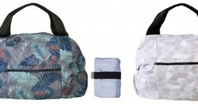 一瞬で帯状になり手早く折りたためる 新発想のバッグ2種