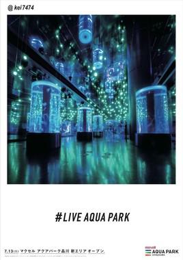 キャプション:フォトジェニック広告「LIVE AQUA PARK」(4)