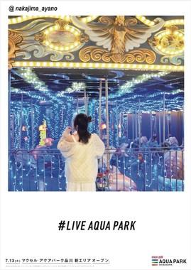 キャプション:フォトジェニック広告「LIVE AQUA PARK」(10)