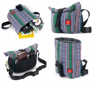 ベトナムの少数民族チャム族が織る柄を使用したバックパック