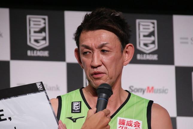 最年長Bリーガーの北海道・折茂武彦選手