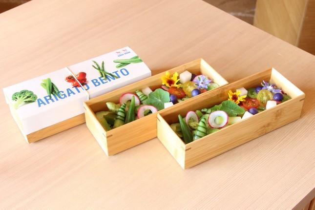 福島県産食材を使ったビーガン対応のお弁当