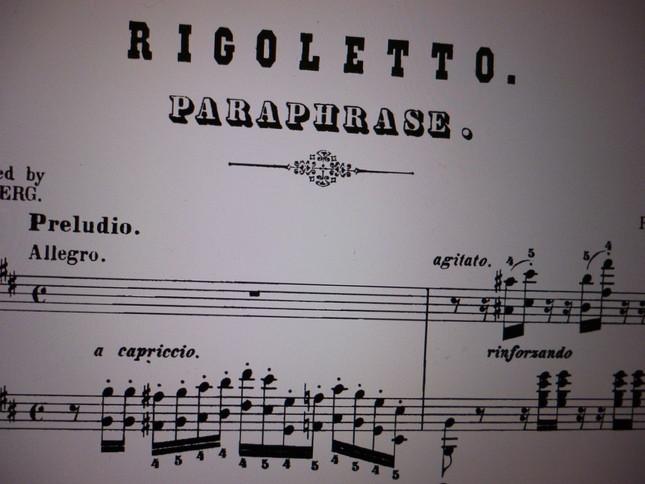通称で「リゴレット・パラフレーズ」と呼ばれているが、正式題名は、フランス語で「リゴレット」による演奏会用パラフレーズとなっている