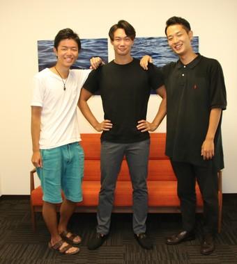 左から松井さん、渋井さん、野津さん