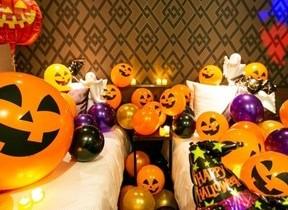 カボチャのバルーン、幻想的キャンドル ハロウィン装飾の部屋にステイ