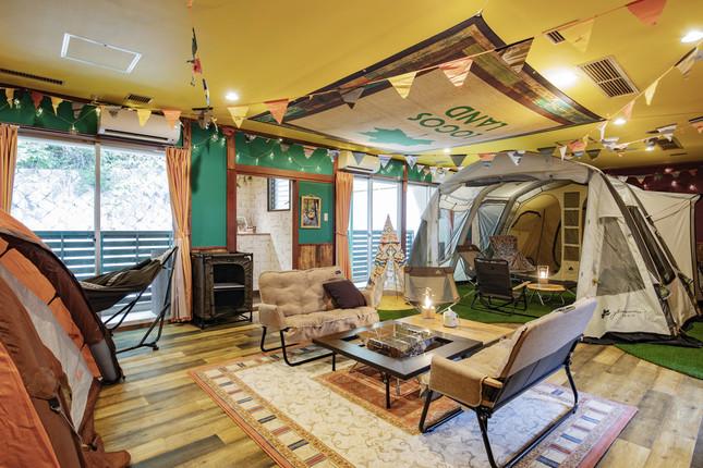 「アイリスイン城陽」キャンプサイト2テントタイプ