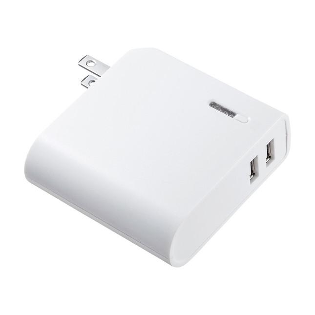 モバイルバッテリー+充電器の「2 in 1」