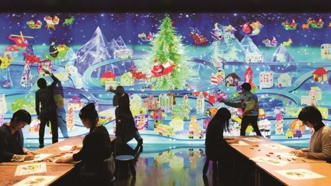 お台場パレットタウンで「お絵かきクリスマス」