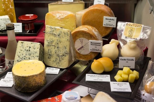 日本から出品したチーズ