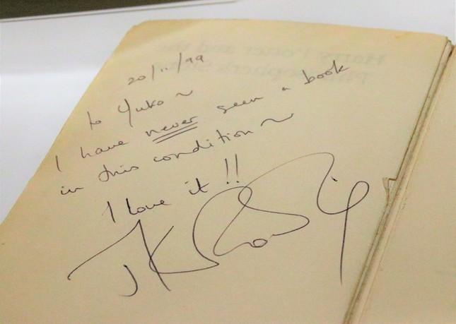 ローリングさんのメッセージとサイン