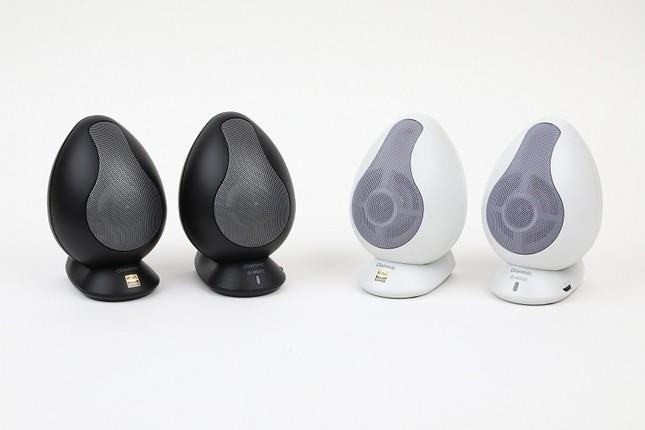 高剛性の卵型キャビネット BluetoothでもUSBでもハイレゾ再生