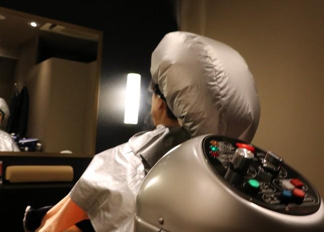 3分間のスチーミングで頭皮を柔軟に