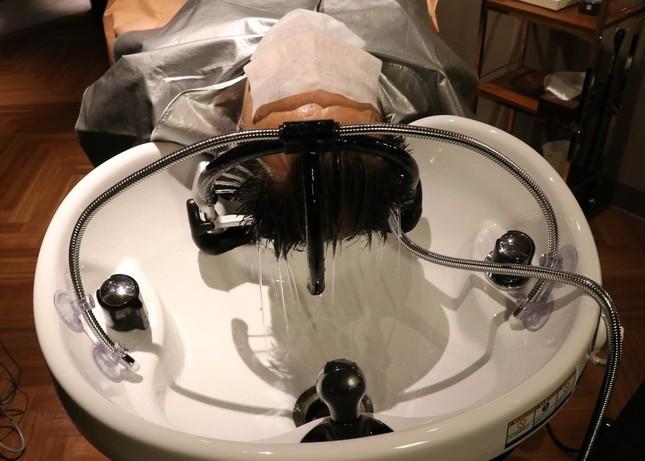 洗浄効果が高い炭酸水の「温水浴」を10分間