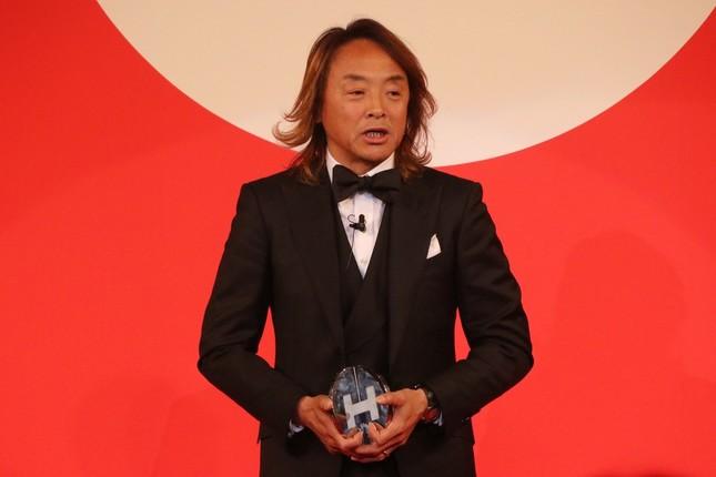 スピーチをする北澤さん