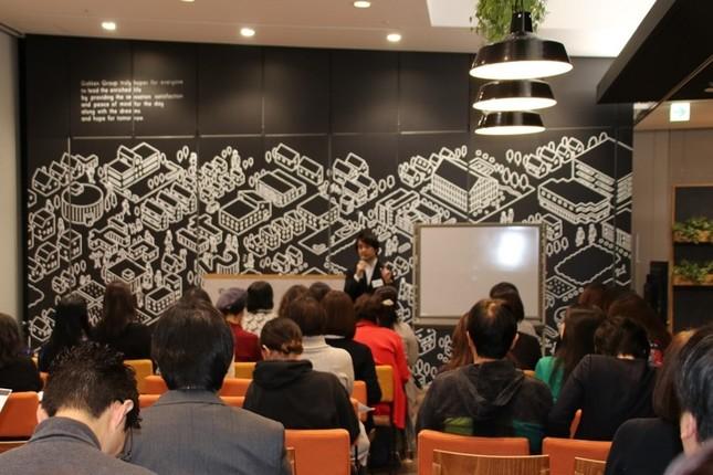 多くの参加者が熱心に頷き、話に耳を傾けていた