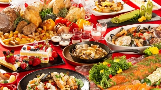 70種類が並ぶブッフェでゆっくり食事